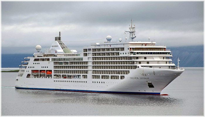 Silversea's Silver Spirit - First ultra-luxury cruise ship to sail with a certification in infection prevention for maritime (CIP-M) from DNV GL, the world's leading classification society.